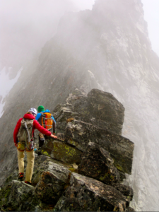 Erica Engle guiding the Torment-Forbidden Traverse (from Mt. Torment to Mt. Forbidden, the North Cascades)