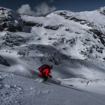 Ian Nicholson on the Tszil glacier