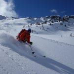 Ian Nichelson skis Equinox on Mount Chief Pascall
