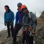 Josh Jackson, Ron Paproski and Rob Hess on the summit of Disappointment Peak