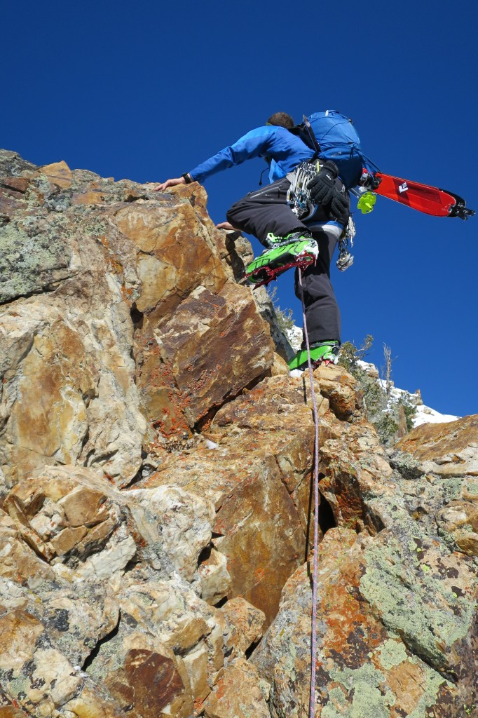 CAMP's Nanotech crampons in action.