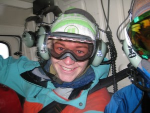 Student Tom, aka HotDog, so excited to be in a helicopter for the first time.